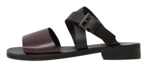 Rachel Comey Slide Open Toe Black and Deep Plum Sandals