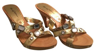 Beverly Feldman Gold Sandals