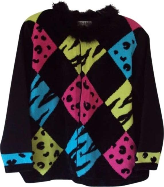 Preload https://img-static.tradesy.com/item/163909/jack-b-quick-black-with-pink-turquoise-and-green-cardigan-size-26-plus-3x-0-0-650-650.jpg