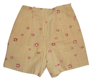 Bobby Jones Floral Golf Bermuda Shorts yellow