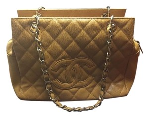 Chanel Leather Vintage Caviar Petit Tote in Mustard