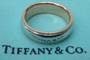 Tiffany & Co. Tiffany & Co. 18k Rose Gold And Platinum 6mm Lucida Wedding Band Ring Size 6.75