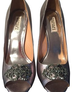 Badgley Mischka Pewter Platforms