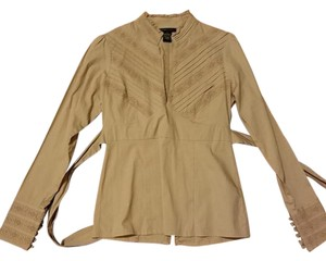 BCBGMAXAZRIA Button Down Shirt begie