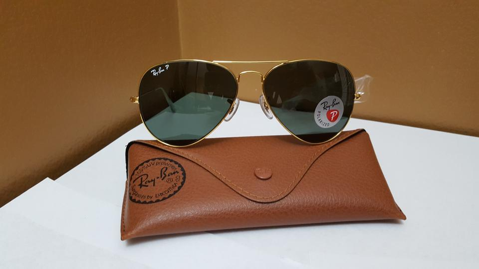 18a0198d4 Ray-Ban Gold/Classic Green Rb3025 001/58 58-14 Aviator Polarized Unisex  Sunglasses