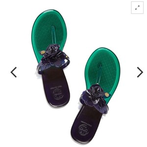 Tory Burch Emerald Stone/ Navy Sea Sandals