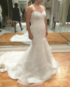 Paloma Blanca Style 4455 - French Alencon Lace And Organza Wedding Dress Wedding Dress