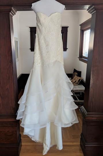 Paloma Blanca Ivory French Alencon Lace and Organza Style ...