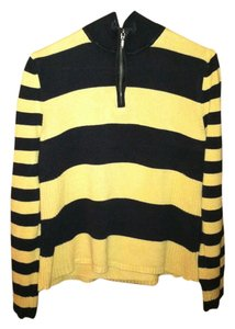 Nine & Co. Brown Stripes Zipper Sweater