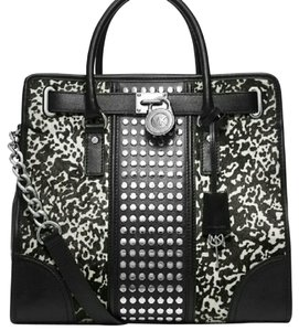 MICHAEL Michael Kors Studded Calf Hair Shoulder Bag