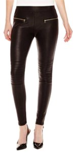 a.n.a. a new approach Moto Stretch Plus Size Black Leggings