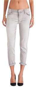 Mother Light Gray The Dropout Skinny Jeans
