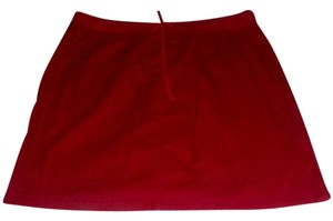 J. Jill Drawstring Cotton Skirt Ruby Red