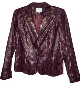 Erin London Top Wine with gold and black accents