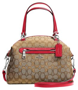 Coach Hobo 36311 Prairie Kelsey Satchel in Classic Red signature