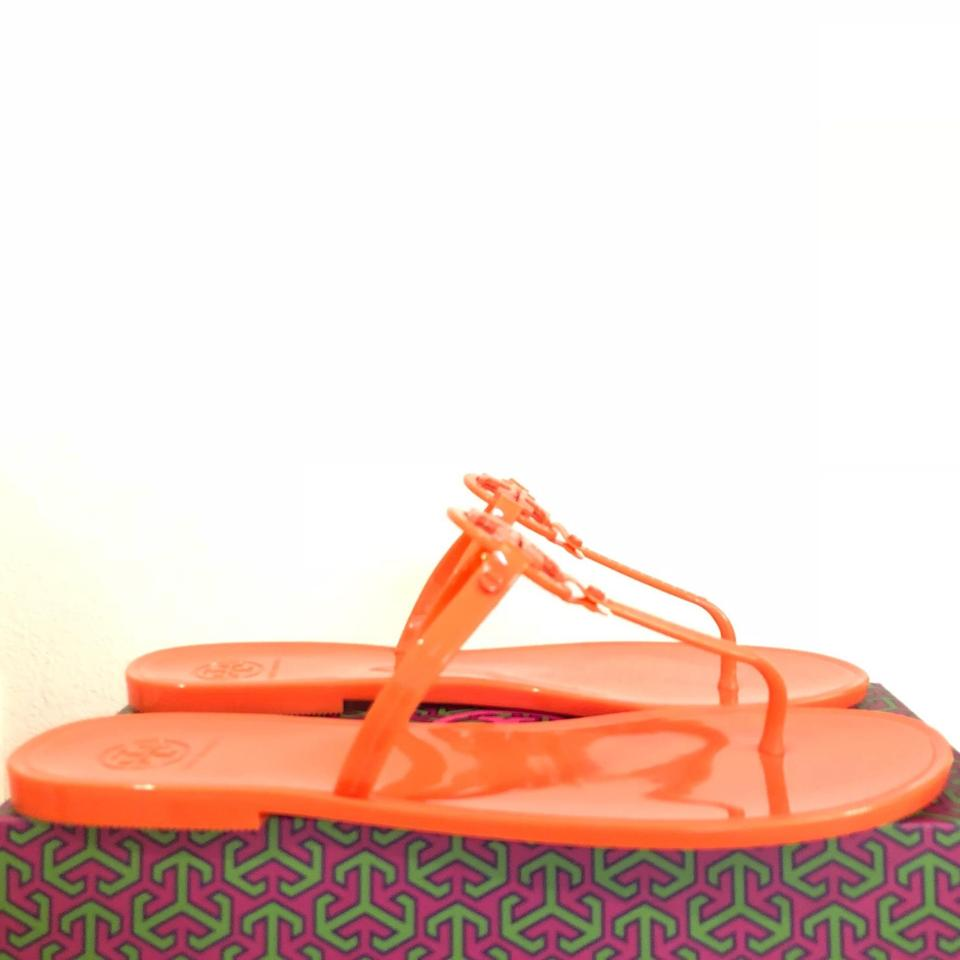 3952b291d9eee3 Tory Burch Poppy Coral Mini Miller Thong Jelly Sandals. Size  US 11 ...