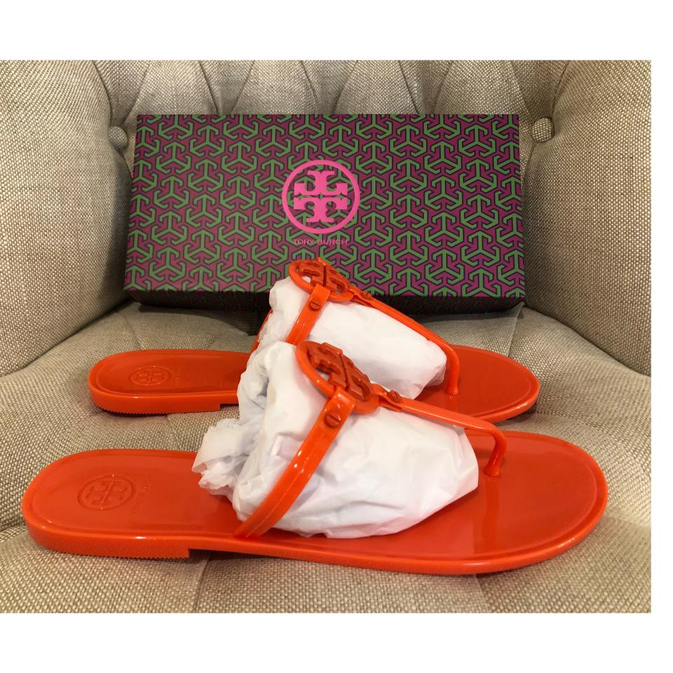 80c367238449ee Tory Burch Poppy Coral Mini Miller Thong Jelly Sandals Size US 11 ...