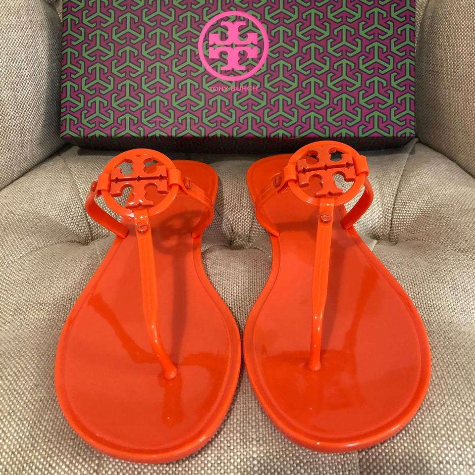 b08aed3bfb2d Tory Burch Poppy Coral Mini Miller Thong Jelly Sandals Size US 11 ...