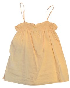 Theory Linen Classic Top Butterscotch yellow
