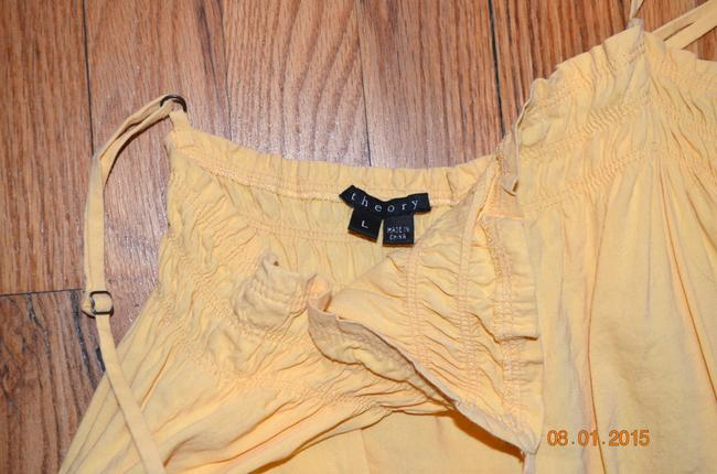 Theory Linen Camisole Classic Top Butterscotch yellow Image 1
