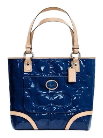 Preload https://item1.tradesy.com/images/coach-blue-tote-163950-0-0.jpg?width=440&height=440