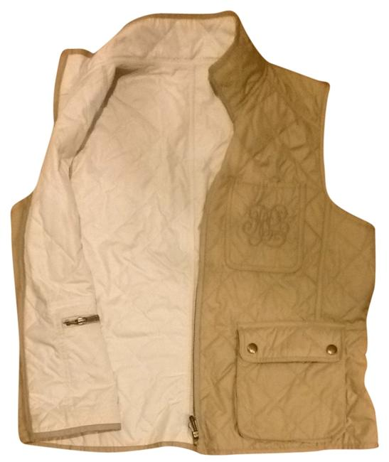 Item - Beige and White Activewear Outerwear Size 12 (L, 32, 33)