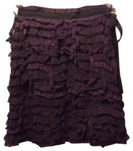 Yoana Baraschi Mini Skirt Plum