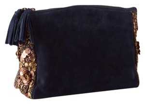 Anthropologie Navy Blue Clutch