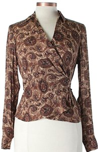 MICHAEL Michael Kors Silk Paisley Wrap Top