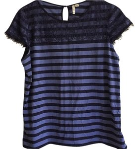 Elle T Shirt Navy blue and blue
