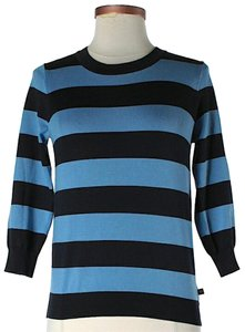 MICHAEL Michael Kors Silk Striped Knit Longsleeve Sweater