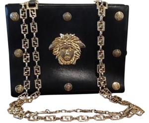 Versace Gold Chain Italian Shoulder Bag