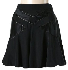 Marc by Marc Jacobs Silk Fit & Flare Mini Skirt Black