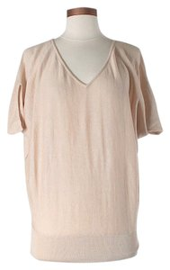 Lafayette 148 New York Linen Wool Oversized V-neck Sweater