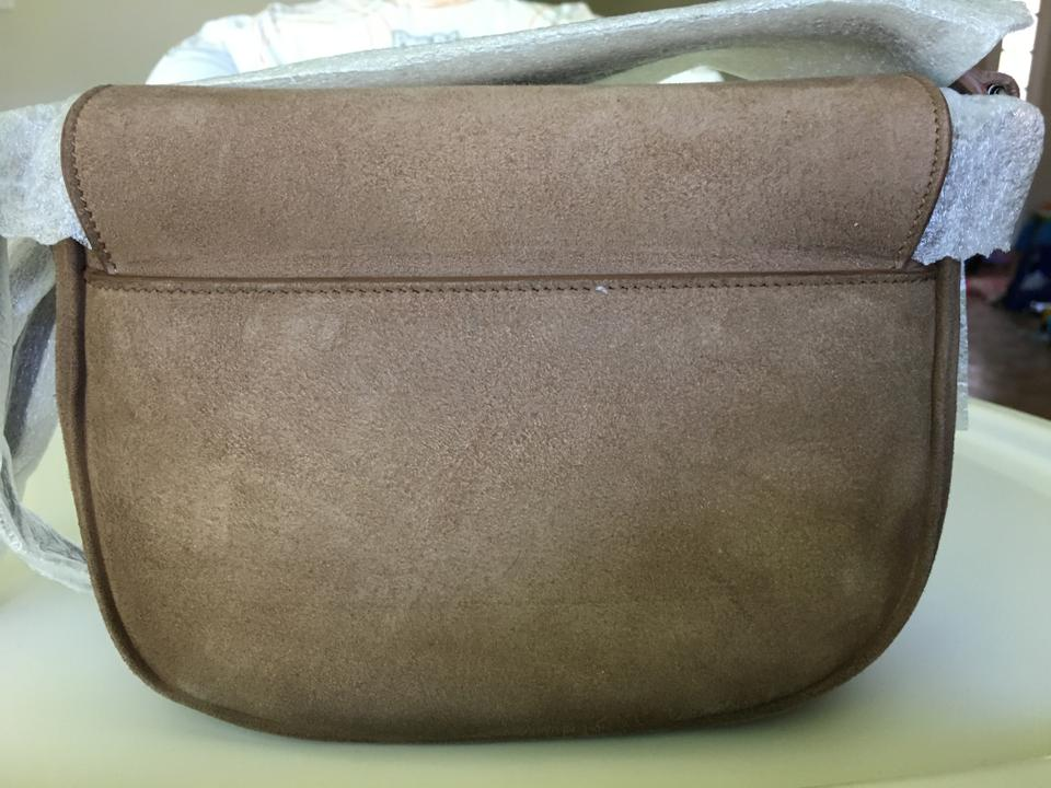 Bag Beige Saint Shoulder Dusty Suede Laurent 'kim' OqPctPvY