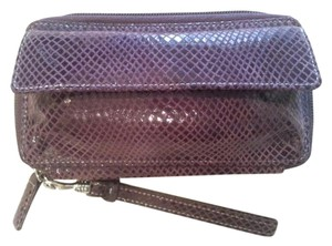 Levenger Wallet Clutch Wallet Wristlet in Purple
