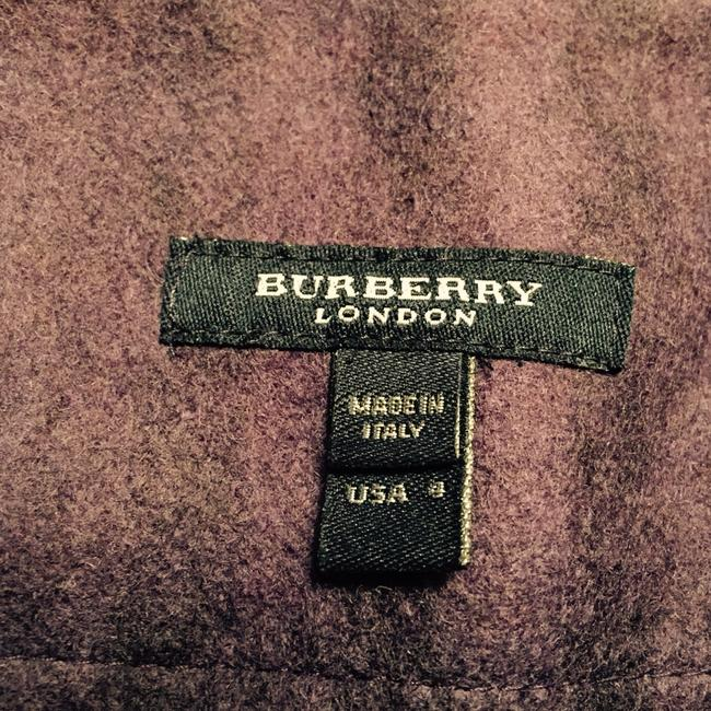 Burberry Skirt Deep Purple With Black Burberry Print