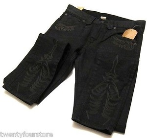 Ralph Lauren Rrl Double Rl Skinny Fit Black W Embroidery Skinny Jeans