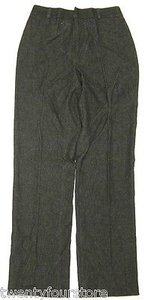 Dolce&Gabbana Wool Blend Denim Fabric Trouser High Waist Pants