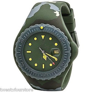 ToyWatch Toy Watch 44mm Rubber Jelly In Camo Camouflage Green - Unisex