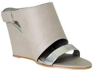 Vince Grey/ Silver accents Wedges