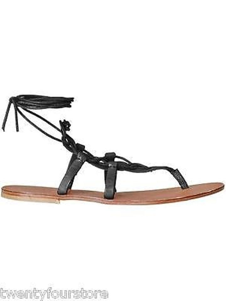 d5905295f8b Joie Torres Ankle Wrap Gladiator In Leather Black Sandals Image 0 ...