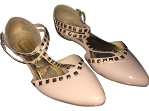 Rampage Nude with Gold Studs Flats
