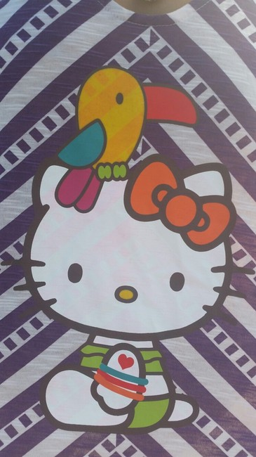 Hello Kitty Bird Parrot Rainbow Macy's Top Purple Party