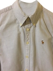 Ralph Lauren Button Down Shirt Blue & White