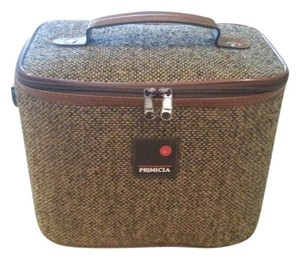 Primicia Toiletry Tweed Luggage Brown Travel Bag