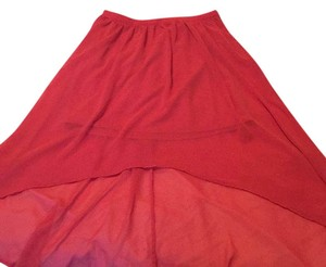 LC Lauren Conrad Sheer High Low Skirt Peach/apricot