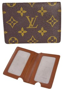 Louis Vuitton Vertical Bifold Pass Card Case Monogram Brown M60533 men