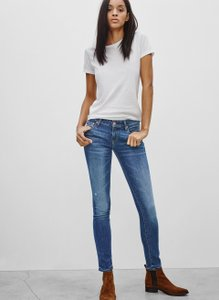 Aritzia Denim Skinny Distressed Ankle Skinny Jeans-Medium Wash