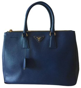 Prada Double Saffiano Double-zip Executive Large Tote Navy Blue ...